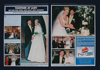 OK! Magazine (issue 293), 6th December 2001, Together at last! Mr and Mrs Mark and Sally Ann Jackson