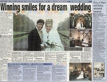 Coventry Evening Telegraph, 20th November 2001, Winning smiles for a dream wedding
